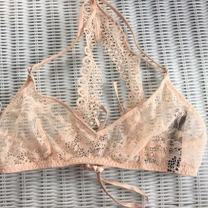 I am selling a small champagne bra